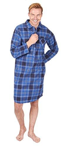 CARGOBAY Men's Striped Long Flannel Nightshirt (Mens Nightshirt Flannel)
