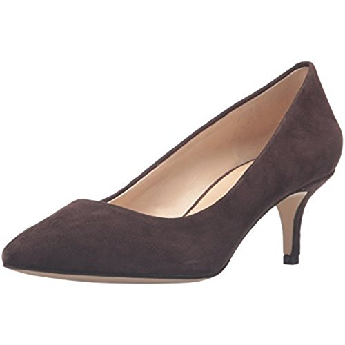 Nine West Women's Xeena Suede Dress Pump, Dark Brown, 8 M US