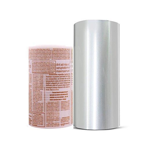 2 Rolls Mousse Cake Collar Transparent and English Membrane Baking Surrounding Edge Tape Perimeter Decorating Acetate Sheet (8cmx10m/10cmx10m) (2 rolls) by LAOZHOU