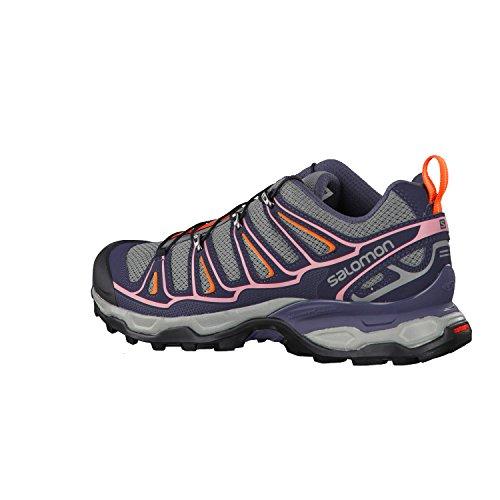 Salomon X Ultra 2 W, Zapatillas de Deporte Exterior para Mujer Gris (Quiet Shade/Ombre Blue/Blush)