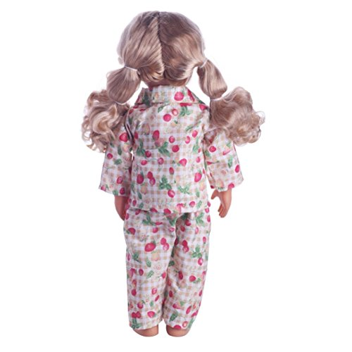 Doll Clothes Outfits for 18 inch Our Generation American Girl Doll Mingfa Cute Pajamas Nightgown Coat Pant Set Doll Accessories (K): Amazon.co.uk: Garden & ...