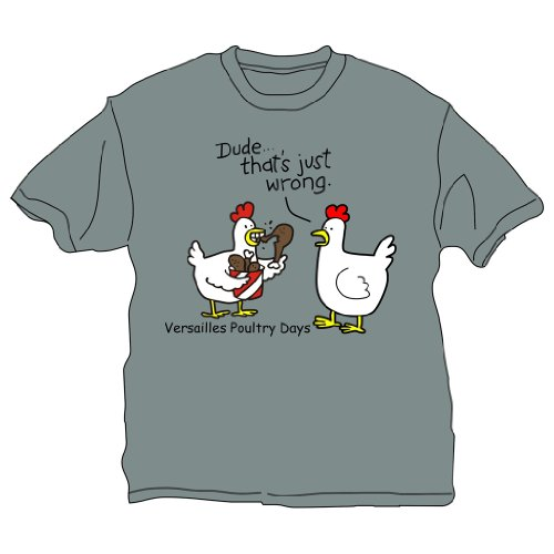 DUDE- That's Wrong Poultry Days Unisex Shirt (Youth Medium, Gray)
