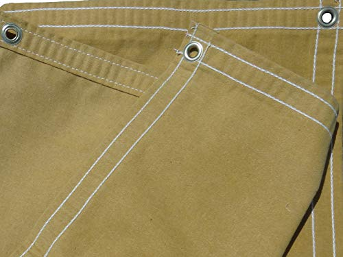 4 Ft. x 4 Ft. Tan/Gold 10 Oz. Canvas Tarp (Canvas Duty Heavy Tan Tarp)
