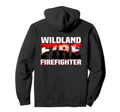 Firefighter Adult Hoody Sweatshirt (Unisex Wildland Fire Rescue Department Hoodie Firefighters Firemen 2XL Black)