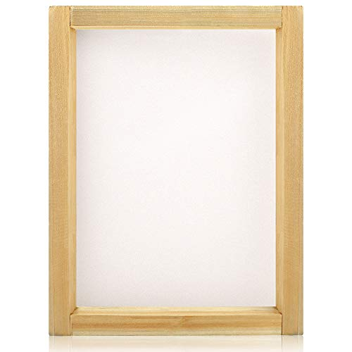 Caydo 10 x 14 Inch Large Wood Silk Screen Printing Frames with 110 White Mesh]()