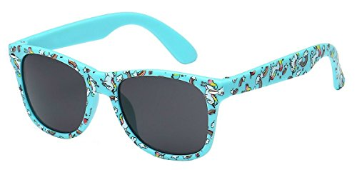 WebDeals - Kids Childrens 80's Classic Retro Sunglasses Assorted Colors (Unicorn Blue, - Looking Cool Sunglasses