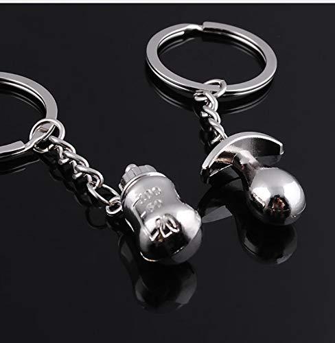 (FidgetGear 10 Pairs Baptism Gift Milk Bottle Pacifier Keychain Baby Shower Favors Souvenirs )