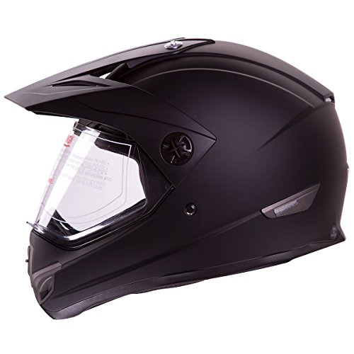 IV2-Matte-Black-High-Performance-Dual-Sport-Motocross-ATV-Dirt-Bike-Helmet-DOT-XL
