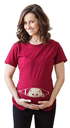 Peeking T Shirt Funny Pregnancy Tee for Expecting Mothers