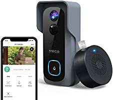 【32GB Preinstalled】WiFi Video Doorbell,MECO 1080P Doorbell Camera with Free Chime, Wireless Doorbell with Motion...