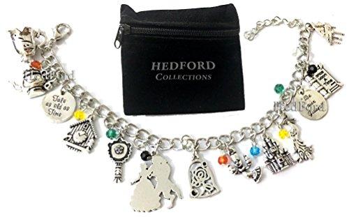 Beauty & The Beast Silver Charm Bracelet (Silver Bracelet V2)
