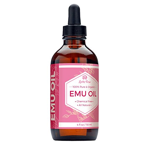 Emu Oil by Leven Rose - 100% Pure Organic Natural Hair Strengthener Scar Minimizer Anti Aging Skin Moisturizer - 4 oz