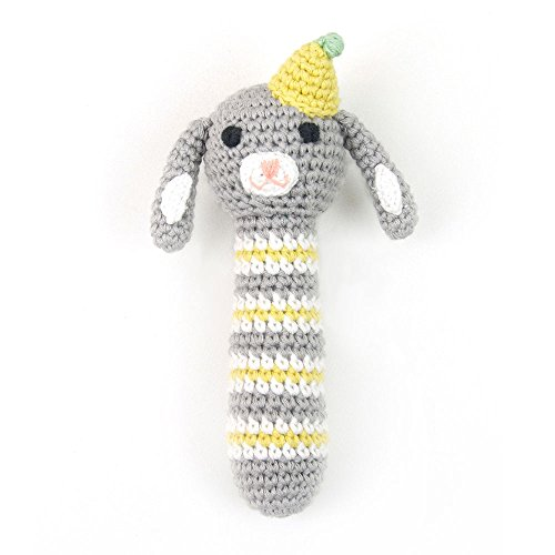 (Weegoamigo Crochet Rattle - Racing Rabbit, Multi)