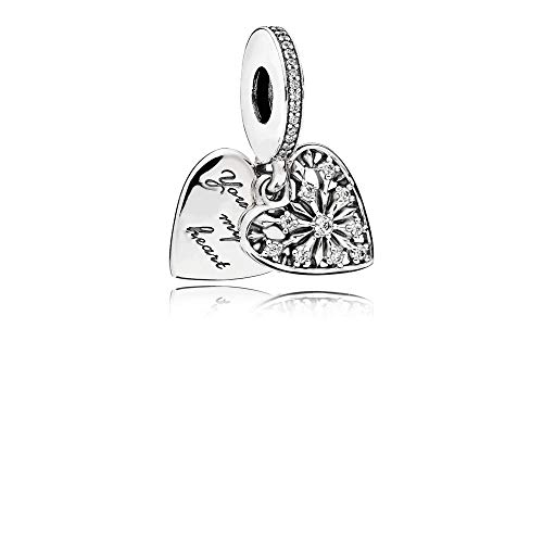 Pandora Heart of Winter Silver Dangle Charm with Cubic Zirconia CZ796372CZ