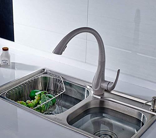 Decorry Küchenarmaturen Deck Montiert Einhand-loch Goldenen Platte All Around Drehen Swivel 2-funktion Wasser Wasser Spülbatterie,F