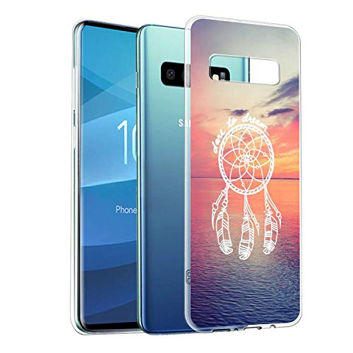 Sunset Dreamcatcher Transparent UV Printing Cell Phone Case Compatible with Galaxy S10e (2019) 5.8-Inch