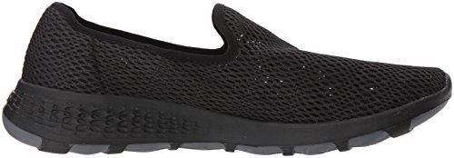 Cool Skechers 15650 para Tenis Mujer Negro Go Walk EEqnrxBT