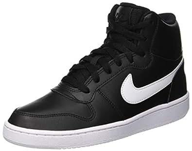 Nike Women's Ebernon Mid Shoes, Black, 6 US