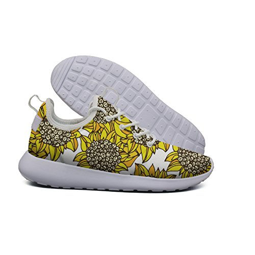 Women's Shoes Sunflower Trendy Sneakers Lightweight Face Yellow Smile Running Mesh Tennis 6v1qwtT