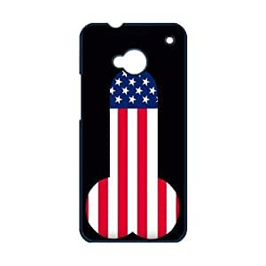 Funny Shape US Flag Cool Fashion Hard Case Cover for Ht One M7