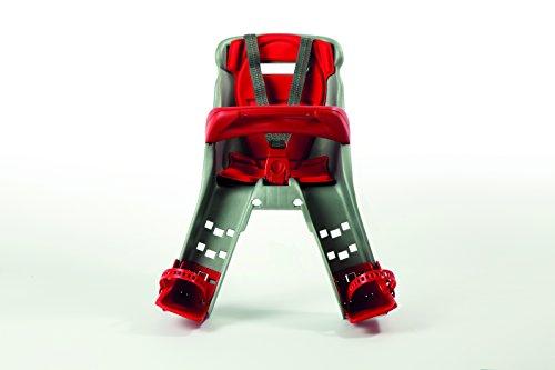 OKBABY Orion - Seggiolino Anteriore per Bambini, Sicurezza in Bicicletta dai 7/8 Mesi (15 kg) - Argento e Rosso 5 spesavip