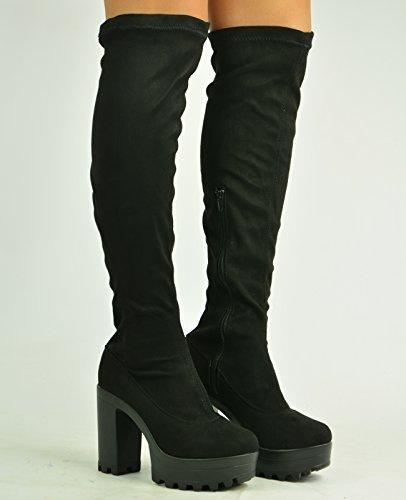 Cucu Fashion - Botas Efecto Arrugado mujer negro