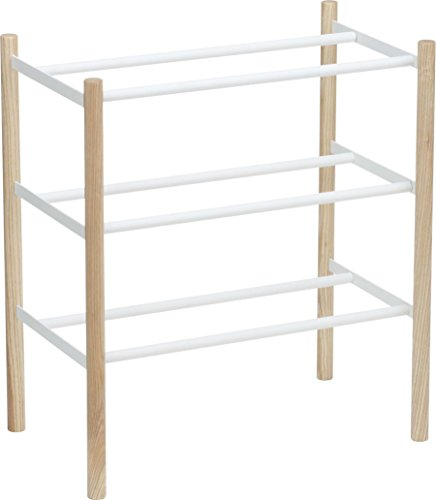 Red Co. 3 Tier Extended Shoe Rack, Adjustable Modern Footwear Tower Storage Organizer, Plain - Deck 10 Duo Inch