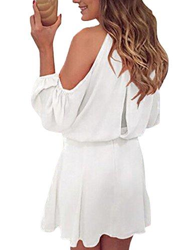 YOINS Sommerkleid Damen Kurz Schulterfrei Kleid Elegante ...