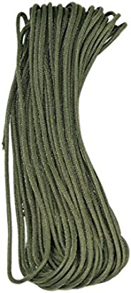 25Ft 50Ft 100Ft (25+ Colors) Paracord Para cord 550 Cord Nylon Type III MIL-C-5040H (OD Green, 25' F