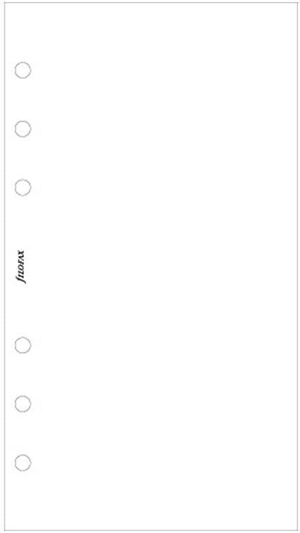 Filofax 132451 Personal Notizpapier blanko wei/ß