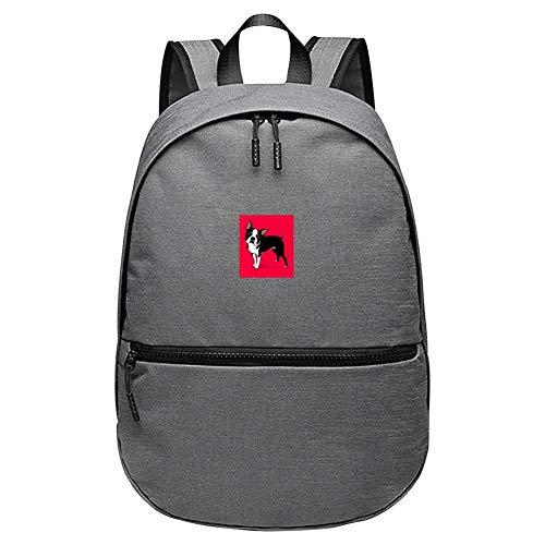 ASJIN Boston Terrier Dog Unisex Classic Lightweight Backpack Schoolbag Travel Laptop Backpack for Kids Men -