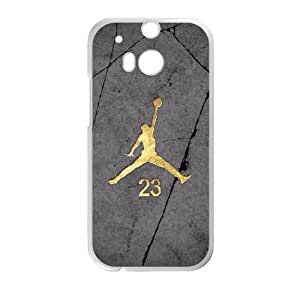 HTC One M8 Cell Phone Case White Jordan logo HUH