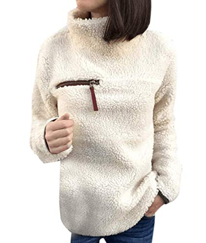Casual New Shirts Hauts Jumper Roul Tops Automne Manches Blouse Lger Fausse Femmes Fourrure Mode Sweat Hiver Sweater Chandail Longues Abricot Pullover Pull Col YRZ5fqw
