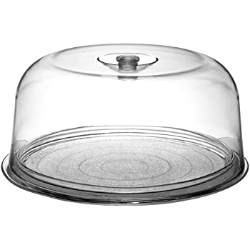Bormioli Rocco Ginevra Cake Platter With Plastic Dome Gift Boxed  sc 1 st  Amazon.com : cake plates with domes - pezcame.com