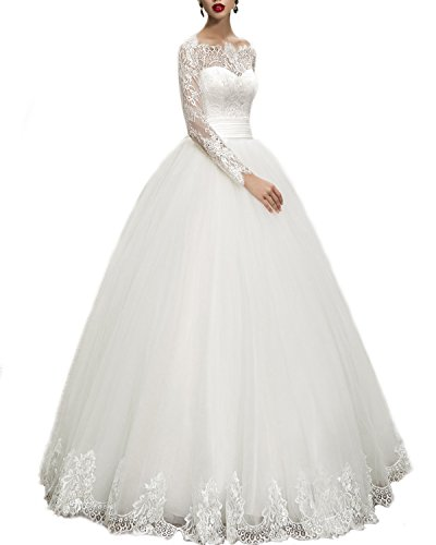 WeddingDazzle Wedding Dresses Ball Gown Sweetheart Wedding Gown Wedding Bridal for Women's 18W White ()