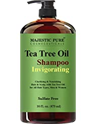 Tea Tree Oil Hair Shampoo, Sulfate Free with 5% Tea Tree Essential Oil, Deep Cleansing for Dandruff, Dry Scalp and Itchy Hair, for Men & Women- 16 fl oz