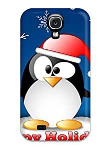 Hot Tpu Cover Case For Galaxy/ S4 Case Cover Skin - Linux Christmas Dinner