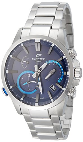 Casio Men's 'Edifice' Quartz Stainless Steel Casual Watch, Color:Silver-Toned (Model: EQB-700D-2ACF)