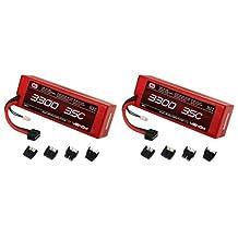 Venom 35C 3S 3300mAh 11.1V LiPO Hard Case Battery with Universal Plug x2 Packs