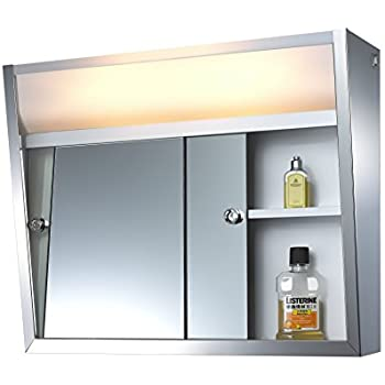 sliding door medicine cabinet 701l series sliding medicine cabinet 2 light 26229