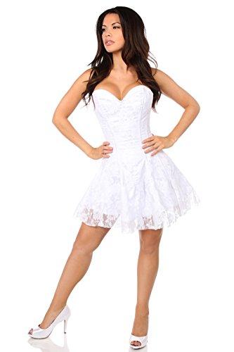5897008ccd4 DaisyCorsets Women s Plus Size Lavish White Lace Corset Dress
