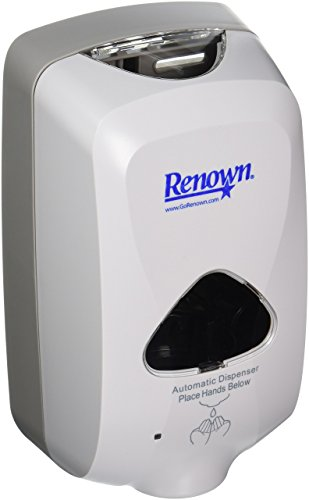 Renown REN02540 Touch-Free Foam Hand Soap Dispenser, 1200ml, Dove Gray, 12 Dispensers Per Case-880375