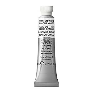 Winsor & Newton Professional Water Colour Paint, 5ml tube, Titanium White