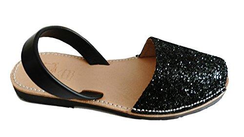 Avarcas Abarcas Glitter Albarcas Menorquínas Sandalias Colores Auténticas Varios negro dZvIaq