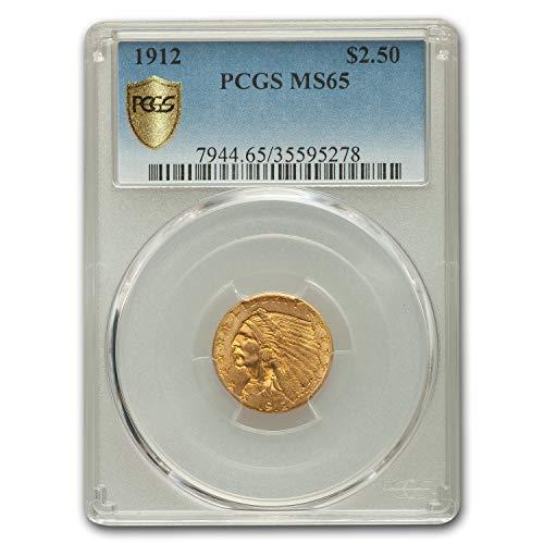 1912 $2.50 Indian Gold Quarter Eagle MS-65 PCGS $2.50 MS-65 PCGS