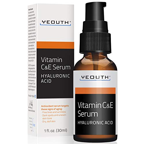YEOUTH Vitamin C and E Day Serum with Hyaluronic Acid, Anti Aging Skin Care Product/Anti Wrinkle serum Will Fill fine…