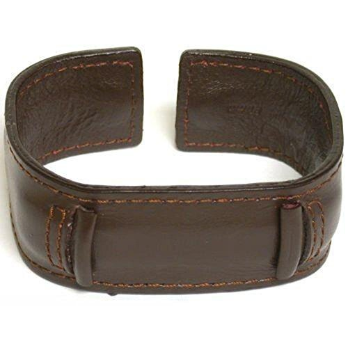 Wide Wrist Cuff Watch Band Leather, Choice of Color Rock & Roll, Fits All Brand Watches from 18mm to 22mm(1 Pack, Brown) ()