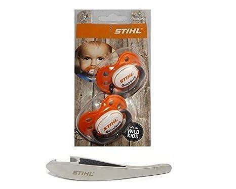 Stihl Schnuller 2 Stück Flaschenöffner Bierdeckel Geschenk Baby Bundel Set