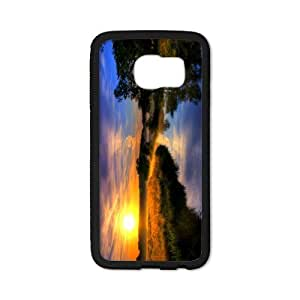 Tobe beautiful nature scene sunset and river Custom Case for SamSung Galaxy S6 edge(Laser Technology)