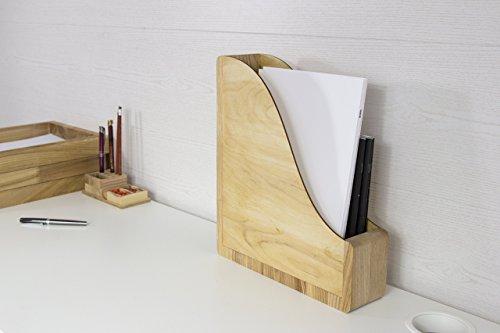 Paper Storage Desk, Desk Organizer Wood, Paper Storage, File Organizer, Magazines Holder, Magazines Rack, Paper Storage Wood, Paper Sorter by Promi Design